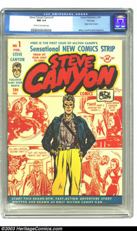 Steve Canyon #1 File Copy (Field Enterprises, Inc., 1948) CGC NM 9.4 Cream to off-white pages. Milton Caniff's second mo...