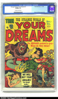 Golden Age (1938-1955):Horror, Strange World of Your Dreams #3 (Prize, 1952) CGC VF/NM 9.0Off-white to white pages. This is perhaps the most fantastic cov...