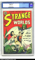 Golden Age (1938-1955):Science Fiction, Strange Worlds #1 (Avon, 1950) CGC VF/NM 9.0 Off-white to whitepages. Avon presented some of the earliest sci-fi titles, an...