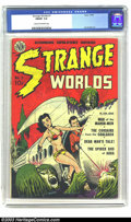 Golden Age (1938-1955):Science Fiction, Strange Worlds #1 (Avon, 1950) CGC FN/VF 7.0 Cream to off-white pages. Avon comic books were known for striking covers, and ...
