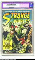 Golden Age (1938-1955):Science Fiction, Strange Worlds #3 (Avon, 1951) CGC Apparent VF/NM 9.0 Slight (P)White pages. Everett Raymond Kinstler has become a fan favo...