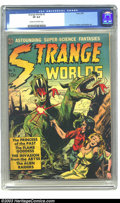 Golden Age (1938-1955):Science Fiction, Strange Worlds #3 (Avon, 1951) CGC VF 8.0 Cream to off-white pages.Dyed-in-the-wool collectors know of the appeal of this s...