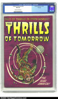 Golden Age (1938-1955):Science Fiction, Thrills of Tomorrow #18 File Copy (Harvey, 1954) CGC FN 6.0 Creamto off-white pages. This mesmerizing cover may have been d...