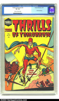 Thrills of Tomorrow #19 (Harvey, 1955) CGC VF+ 8.5 Cream to off-white pages. This book is a contender for the title of e...