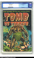Golden Age (1938-1955):Horror, Tomb of Terror #1 File Copy (Harvey, 1952) CGC VF- 7.5 Cream tooff-white pages. Warren Kremer, better known for his many co...