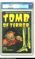 Golden Age (1938-1955):Horror, Tomb of Terror #9 File Copy (Harvey, 1953) CGC VF/NM 9.0 Light tanto off-white pages. Harvey's primary trio of horror artis...