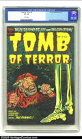 Golden Age (1938-1955):Horror, Tomb of Terror #9 (Harvey, 1953) CGC VF 8.0 White pages. Harvey'sdynamic trio of Bob Powell, Lee Elias, and Howard Nostrand...