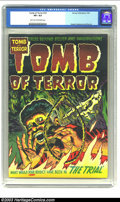 Golden Age (1938-1955):Horror, Tomb of Terror #10 (Harvey, 1953) CGC VF+ 8.5 Light tan tooff-white pages. Surely the Lee Elias cover tells you thepre-Cod...