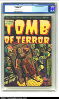Golden Age (1938-1955):Horror, Tomb of Terror #11 (Harvey, 1953) CGC VF/NM 9.0 Cream to off-whitepages. A colorful cover from Lee Elias is preserved brill...