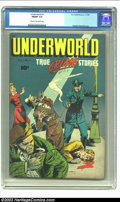 "Golden Age (1938-1955):Crime, Underworld #1 (D.S. Publishing, 1948) CGC FN/VF 7.0 Cream to off-white pages. Overstreet mentions that this ""True Crime Stor..."