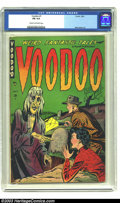 Golden Age (1938-1955):Horror, Voodoo #1 (Farrell, 1952) CGC FN 6.0 Cream to off-white pages. Thiscemetary cover features an eye-less rotting zombie risin...