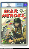 Golden Age (1938-1955):War, War Heroes #7 Mile High pedigree (Dell, 1944) CGC NM+ 9.6 Off-white pages. The sheer grit and determination of our fighting ...