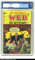 Golden Age (1938-1955):Horror, Web of Mystery #9 (Ace, 1952) CGC VF 8.0 Off-white pages. Manypre-Code horror comic titles are still quite affordable by Ov...