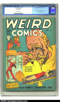 Golden Age (1938-1955):Horror, Weird Comics #5 (Fox, 1940) CGC VF 8.0 Off-white pages. Thisbondage and hypodermic needle cover shows the typical artistic ...