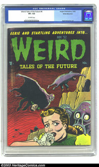 Weird Tales of the Future #4 White Mountain pedigree (Aragon, 1952) CGC VF+ 8.5 Off-white pages. The cover artwork for t...