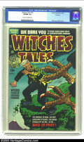 Golden Age (1938-1955):Horror, Witches Tales #18 File Copy (Harvey, 1953) CGC VF/NM 9.0 Cream tooff-white pages. Just two copies of this issue show up in ...