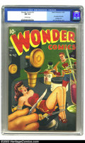 Golden Age (1938-1955):Superhero, Wonder Comics #15 (Better Publications, 1947) CGC NM 9.4 Off-white pages. Of the many fantastic airbrush covers Alex Schombu...