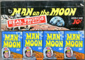 Memorabilia:Miscellaneous, Man on the Moon Bubble Gum Cards Full Box (Topps, 1969). To commemorate the NASA moon-landing, Topps issued this card set sh...