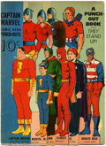 Golden Age (1938-1955):Superhero, Captain Marvel Comic Hero Punch-Outs (Samuel Lowe, 1942) Condition:VG. What a neat piece! It's a punch-out book of Fawcett ...
