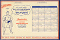 Golden Age (1938-1955):Superhero, Superman World War II Children's Calendar (DC, 1942). This fascinating calendar was created to increase sales of 10 and 25 c...