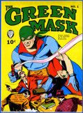 Golden Age (1938-1955):Superhero, Cover Proofs for Green Mask #1 and Two Promotional Pieces (Fox, 1940). This handsomely framed piece seems to consist of prin...