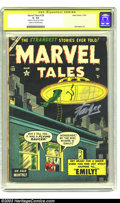 Golden Age (1938-1955):Horror, Marvel Tales #128 Stan Lee Signature Series (Marvel, 1954) CGC GD-1.8 Cream to off-white pages. This cool pre-Code horror/s...