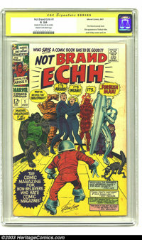 Not Brand Echh #1 Stan Lee Signature Series (Marvel, 1967) CGC GD 2.0 Cream to off-white pages. This hilarious comic has...