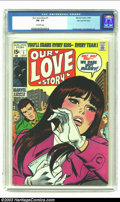 Silver Age (1956-1969):Romance, Our Love Story #1 Stan Lee File Copy (Marvel, 1969) CGC FN- 5.5Off-white pages. A John Romita cover and interior art by Joh...