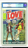 Bronze Age (1970-1979):Romance, Our Love Story #7 Stan Lee File Copy (Marvel, 1970) CGC VF- 7.5Off-white pages. We make fun, but these romance titles from ...
