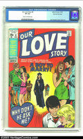 Bronze Age (1970-1979):Romance, Our Love Story #8 Stan Lee File Copy (Marvel, 1970) CGC VF 8.0Cream to off-white pages. John Buscema's colorful cover carri...