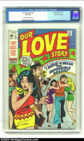 Bronze Age (1970-1979):Romance, Our Love Story #9 Stan Lee File Copy (Marvel, 1971) CGC VF 8.0Cream to off-white pages. Jack Kirby contributes art in this ...