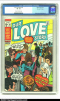 Bronze Age (1970-1979):Romance, Our Love Story #9 Stan Lee File Copy (Marvel, 1971) CGC VF- 7.5 Cream to off-white pages. John Romita and Gene Colan contrib...