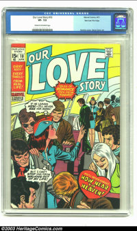 Our Love Story #9 Stan Lee File Copy (Marvel, 1971) CGC VF- 7.5 Cream to off-white pages. John Romita and Gene Colan con...