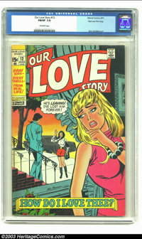 Our Love Story #12 Stan Lee File Copy (Marvel, 1971) CGC FN/VF 7.0 Off-white pages. Sal Buscema's cover fronts this issu...