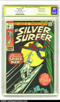 Bronze Age (1970-1979):Superhero, The Silver Surfer #14 Stan Lee File Copy (Marvel, 1970) CGC VG- 3.5 Cream to off-white pages. Signature Series. John Buscema...