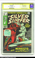 Bronze Age (1970-1979):Superhero, The Silver Surfer #16 Stan Lee File Copy (Marvel, 1970) CGC VF- 7.5 Off-white pages. Signature Series. The Lord of Hades, Me...
