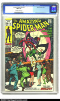 """Bronze Age (1970-1979):Superhero, Amazing Spider-Man #91 (Marvel, 1970) CGC NM+ 9.6 Off-white to white pages. A shady guy by the name of """"Bullit"""" enters the p..."""