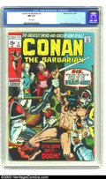 Bronze Age (1970-1979):Superhero, Conan The Barbarian #2 (Marvel, 1970) CGC NM 9.4 White pages. Barry Windsor Smith does his magic again with this issue. Arno...
