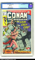Bronze Age (1970-1979):Superhero, Conan The Barbarian #3 (Marvel, 1971) CGC NM 9.4 Off-white to white pages. This is the infamous low distribution issue of th...