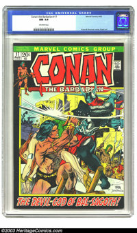 Conan The Barbarian #17 (Marvel, 1972) CGC NM 9.4 Off-white pages. Gil Kane takes over the artwork for the popular, but...