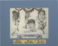 Autographs:Letters, Mickey Mantle/Willie Mays/ Duke Snider Autographed Picture. A trulyunique pencil drawing of the three greatest center fiel...
