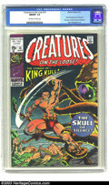 Bronze Age (1970-1979):Horror, Creatures on the Loose #10 (Marvel, 1971) CGC NM/MT 9.8 Off-whiteto white pages. The first issue of this title (previously ...