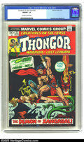 "Bronze Age (1970-1979):Miscellaneous, Creatures on the Loose #22 (Marvel, 1973) CGC NM/MT 9.8 Off-whiteto white pages. Nice ""Thongor, Warrior of Lost Lemuria"" is..."