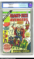 Bronze Age (1970-1979):Superhero, Giant-Size Avengers #1 (Marvel, 1974) CGC NM/MT 9.8 Off-white to white pages. Overstreet lists the Marvel Giant Size books a...