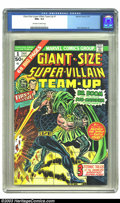 """Bronze Age (1970-1979):Superhero, Giant-Size Super-Villain Team-Up #1 (Marvel, 1975) CGC NM+ 9.6 Off-white to white pages. This issue features """"3 Titanic Tale..."""