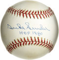 "Autographs:Baseballs, Duke Snider ""HOF 80"" Single Signed Baseball. The Duke of Flatbushmakes reference to his Hall of Fame induction date along ..."