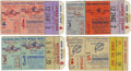 Baseball Collectibles:Tickets, 1951-60 World Series Ticket Stubs Lot of 4. Plenty of New YorkYankees October action here for the Bronx Bomber fans among ...