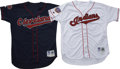 Baseball Collectibles:Uniforms, 1997-99 Cleveland Indians Game Worn Jerseys Lot of 2. Exceptional pair of game worn baseball jerseys from late 1990s member...