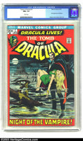 Bronze Age (1970-1979):Horror, Tomb of Dracula #1 (Marvel, 1972) CGC NM+ 9.6 White pages. Thecreature of the night comes to Marvel Comics to render his bl...