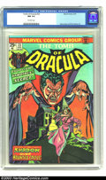 Bronze Age (1970-1979):Horror, Tomb of Dracula #23 (Marvel, 1974) CGC NM 9.4 Off-white pages. Overthe years this title has quietly grown in stature among ...
